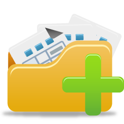 Add Open Folder Free Pretty Office Icons Part 4 24px Icon Gallery